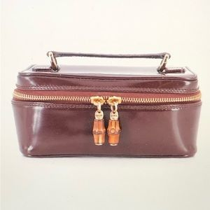 Gucci Travel Case in Brown Glazed Leather
